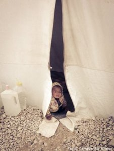 Ministries are able to bring the love of Christ into tents with supplies to meet the cold of winter