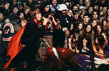 Mick Jagger performs at Altamont