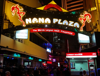 Sex trade area in Bangkok