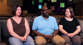 From left to right: Cheree Swan, Rudge and Tiffanie