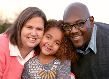 The Rudgleys with their daughter