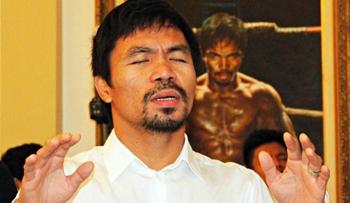 Manny praying