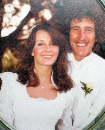 Tim and Kelly at their 1981 wedding