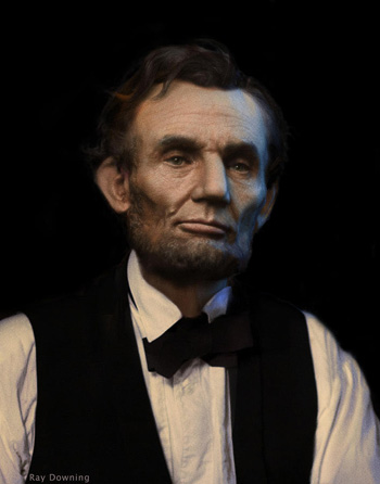 Lincoln portrait by Ray Downing