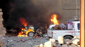 Fighting rages in the city of Ramadi, May 16