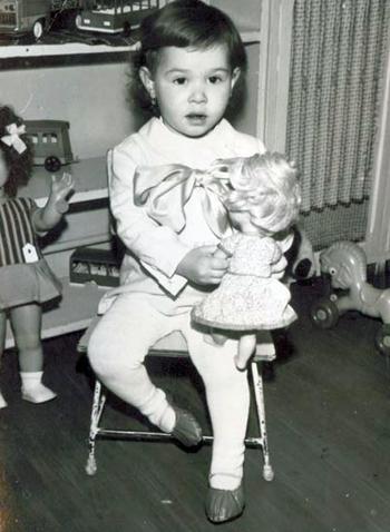 Izabella as a child