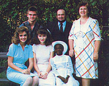 Rouster family in the 1980s