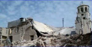 The Syrian Network for Human Rights says 63 churches have been damaged or destroyed so far in four years of civil war