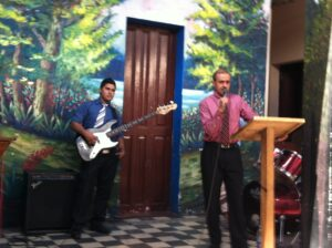 Ministering in the Door Church in Guatemala