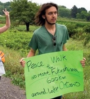 Ciccolo participated in a Peace Walk against nuclear power in 2012