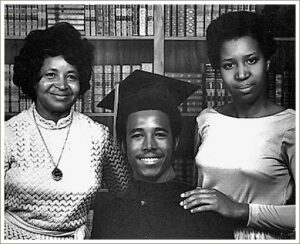 His graduation from Yale in 1973. His mother, Sonya, left. His then wife-to-be, Candy, at right.