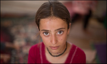 Aisha, a Yazidi girl held by ISIS at 9-years-old