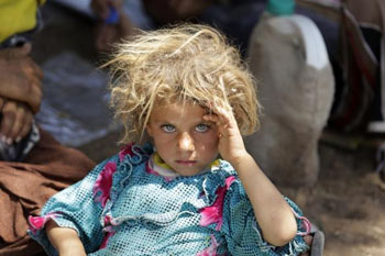 Yazidi girl who escaped ISIS from Mt Sinjar