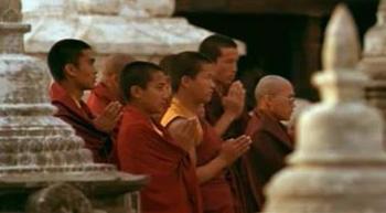 Tibetan Buddhist monks in Kathmandu, Nepal