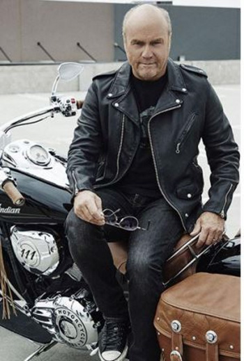 Laurie on his motorcycle