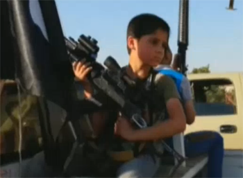 News footage reveals children in ISIS convoy