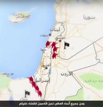 ISIS map targeting Israel