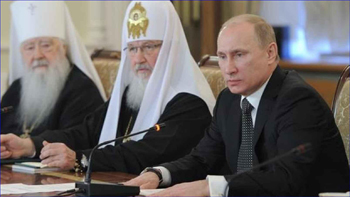 Putin with church officials