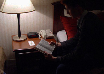 gideon bible by bed copy