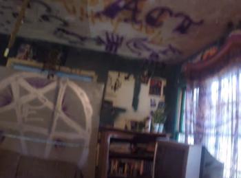 Inside room of house