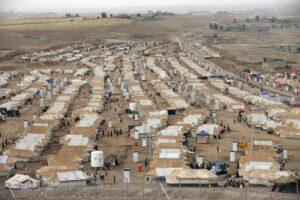 A refugee camp in Erbil