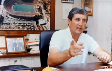Coach Mac in his office