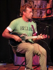 Tom Curren, with his other passion, music