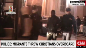 Man arrested for throwing Christians overboard