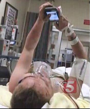 Sam hospitalized
