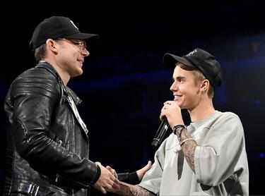 Bieber with Judah Smith