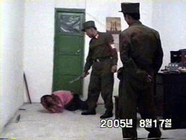 Interrogation in North Korea prison camp