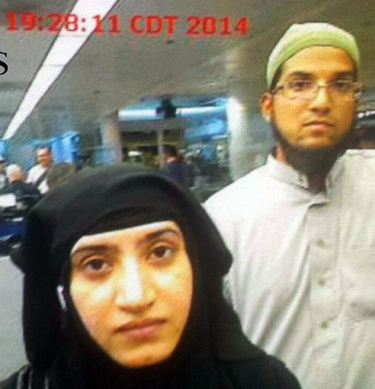 Photo of terror couple as they entered U.S. at Chicago's O'Hare Airport July 27, 2014