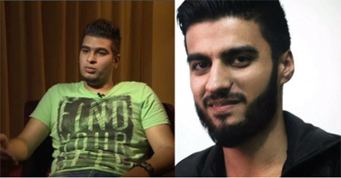 Fares Hamadi and Ibrahim Abd al-Qader (R)