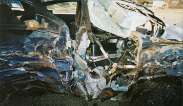 Rathbun's Mitsubishi Eclipse after his accident