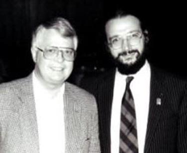 Dan Wooding (left) with Alexander
