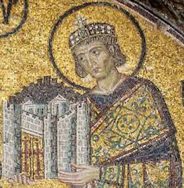 Constantine mosaic at Hagia Sophia, Istanbul