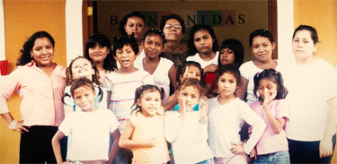 First group of girls at Villa Esperanza (Xochilt is in front row, far left)