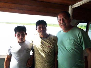 Pastor Ricardo (right) with two new Shipibo pastors