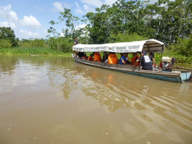 Smaller boat travels to more remote villages