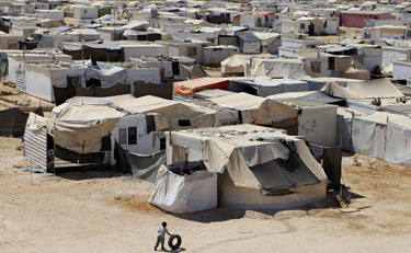 syrian refugee tents