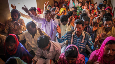 Former animists from the Korwa people group worship Christ in Jharkhand state, central India. (Christian Aid Mission)