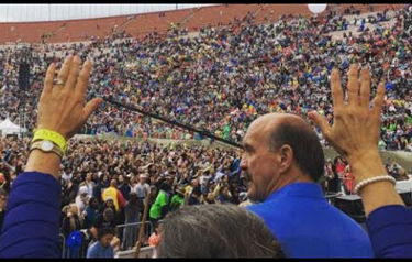 Lou Engle scans the crowd