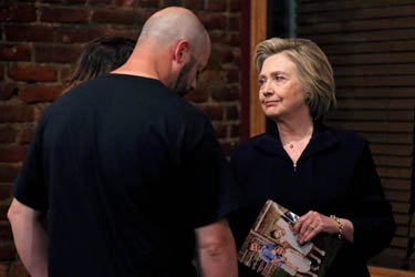 Bo with Mrs. Clinton