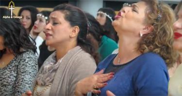 Worship at Alpha Omega Church in Hamburg