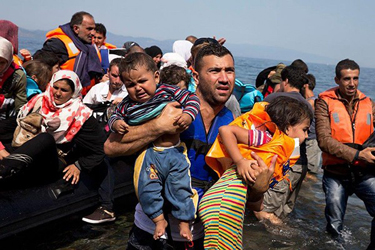 Jesus appeared to a boat filled with refugees crossing the Aegean Sea