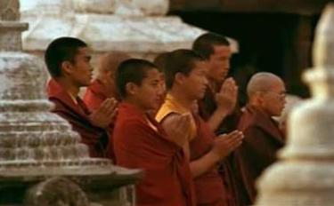 Tibetan Buddhist monks in Nepal