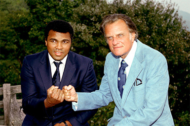 Ali with Billy Graham in 1979