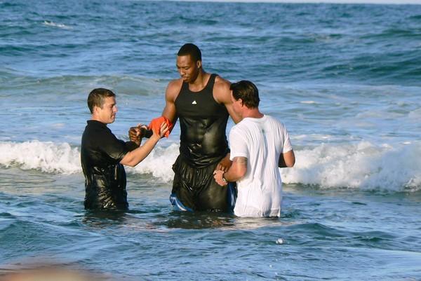dwight howard at baptism