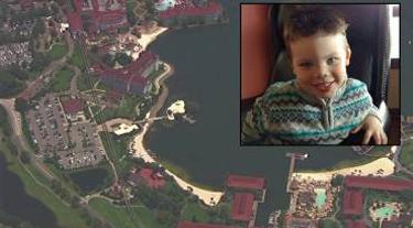 Lane Graves (inset); overview of Disney resort