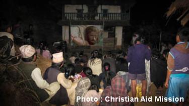 Showing JESUS Film in Nepal